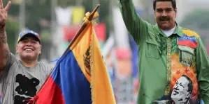 """Maradona llama a """"derrotar un nuevo golpe de estado"""" en Venezuela"""