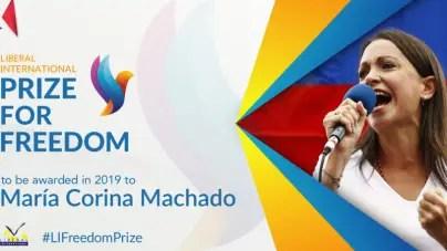 Entregan Premio por la Libertad 2019 a María Corina Machado