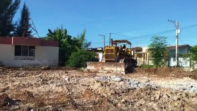 Régimen demuele áreas deportivas asignadas a escuelas en Villa Clara