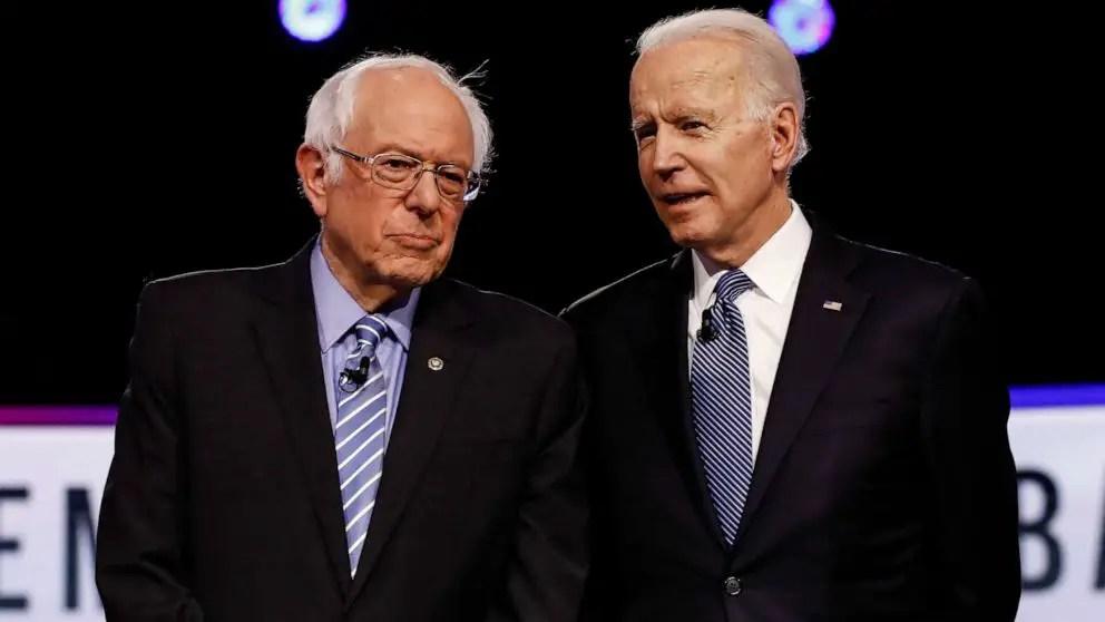 Bernie Sanders Joe Biden trabajo