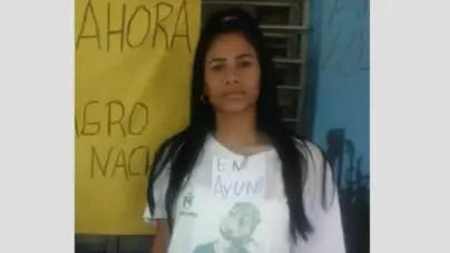 Seguridad del Estado multa a esposa de preso político Didier Almagro