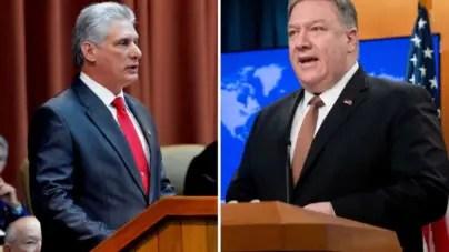 Díaz-Canel acusa a Pompeo de promover intervención militar contra Venezuela