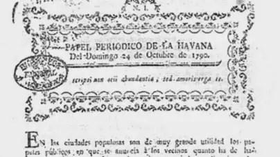 Primer número del Papel Periódico de La Havana cumple 230 años