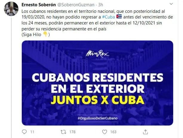 prórroga Cuba