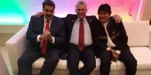 Díaz-Canel, Evo y Maduro celebran el sí a nueva Constitución en Chile