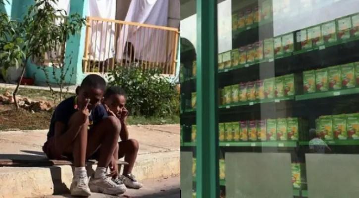 Niños guantanameros lloran ante confituras de vidrieras en MLC