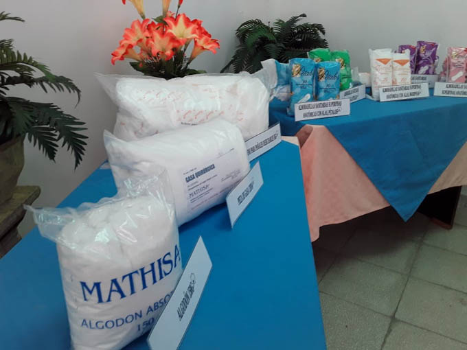 Mathisa almohadilla sanitaria Cuba