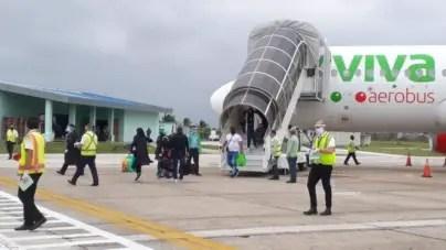 Aeropuerto de Santa Clara reinicia operaciones con vuelo desde México
