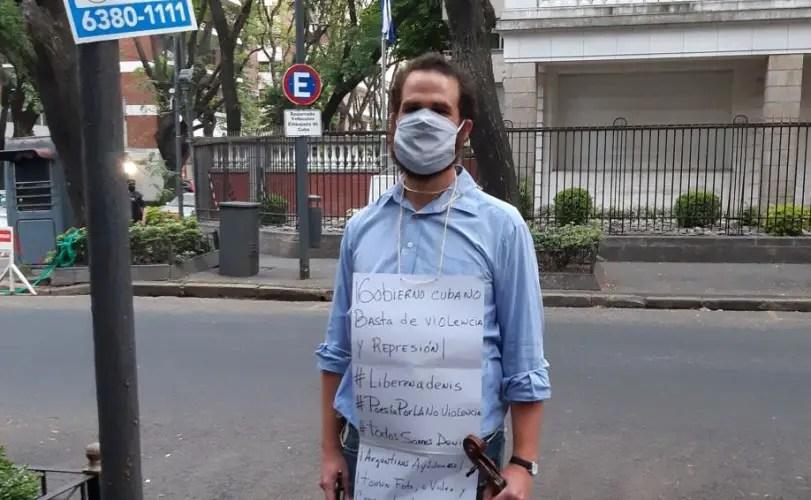Argentina: Músico cubano inicia ayuno en apoyo al Movimiento San Isidro