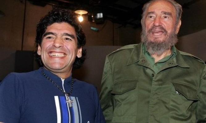 Maradona Fidel Castro
