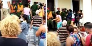 """""""¡Eso es un abuso!"""": cubanos se enfrentan a boinas rojas en Isla de la Juventud"""