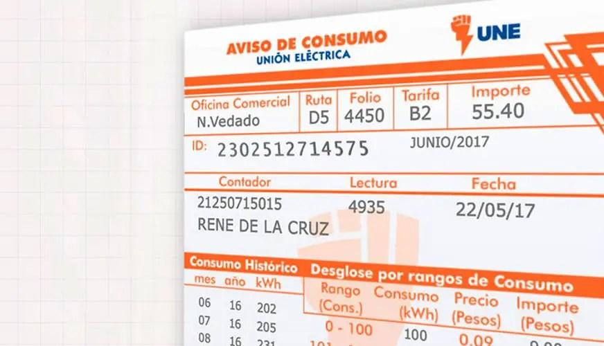 Cuba, Cuballama, Electricidad, Factura eléctrica