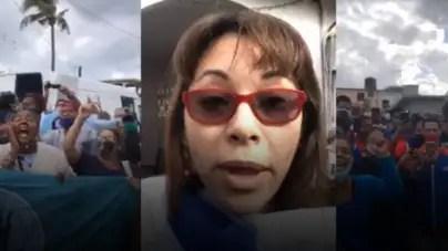 ¡Que se vaya!: turbas castristas lanzan acto de repudio frente a casa de Iliana Hernández
