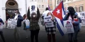 Cubanos en Italia se solidarizan con el Movimiento San Isidro