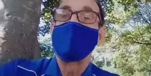 Desde el parque Lennon profesor cubano convoca a la sociedad civil de la Isla