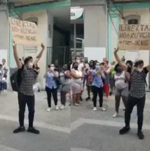 """Acusan a joven que protestó en Cuba de """"Actos contra la seguridad del Estado"""""""