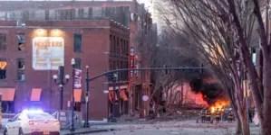 """Explosión """"intencional"""" sacude el centro de Nashville"""
