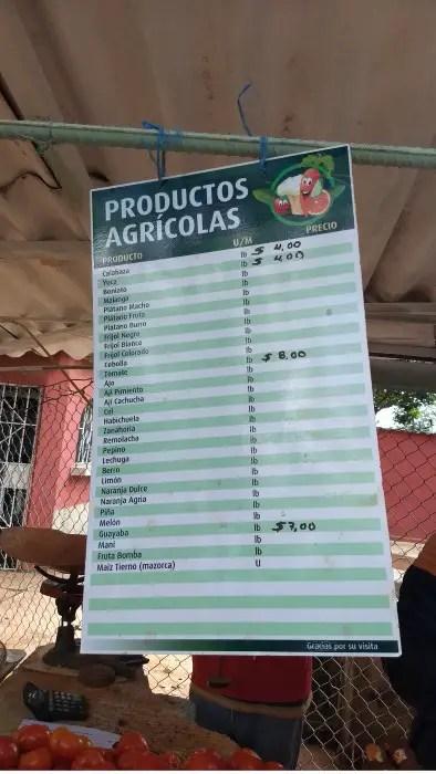mercados Cuba precios