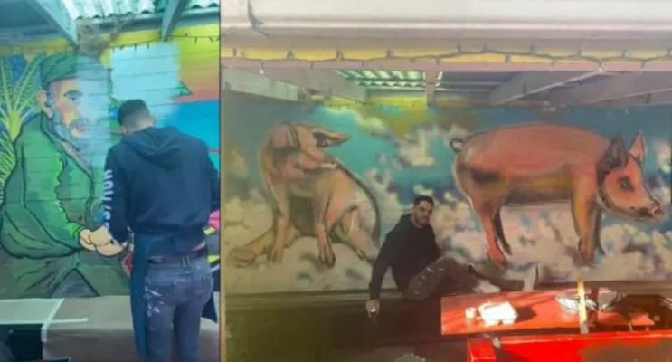 El Sexto reemplaza a Fidel Castro por unos cerdos en mural de Nueva Orleans