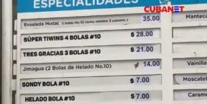 Así lucen los nuevos precios en establecimientos de La Habana