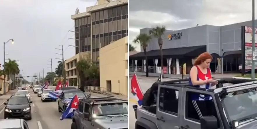 """""""Somos mayoría"""": caravana anticastrista inunda la calle ocho de Miami"""