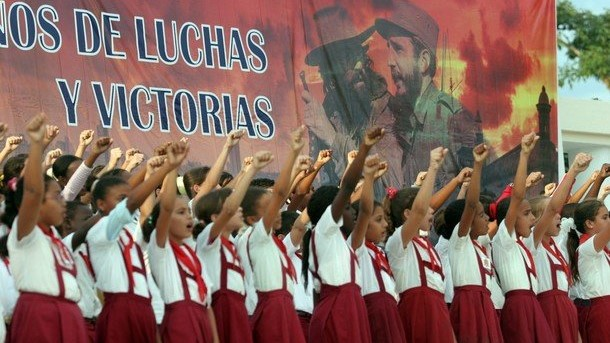 Niñez en Cuba, propaganda comunista, Cuba