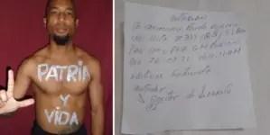 """Policía cita a activista cubano: """"Molestó que pusiera ´Patria y vida´ en mi casa"""""""