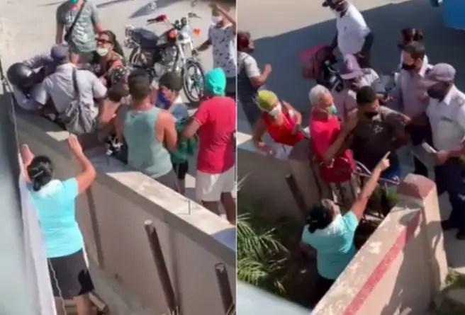 Cubanos enfrentan a policías en Santiago de Cuba para impedir detención