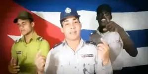 """Policía cubana lanza un trap en respuesta a """"Patria y vida"""""""