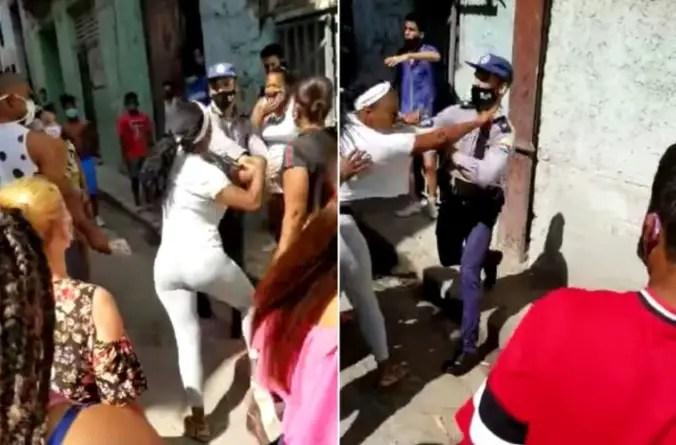 Abuso policial en La Habana: agente de la PNR golpea a una mujer en pleno rostro