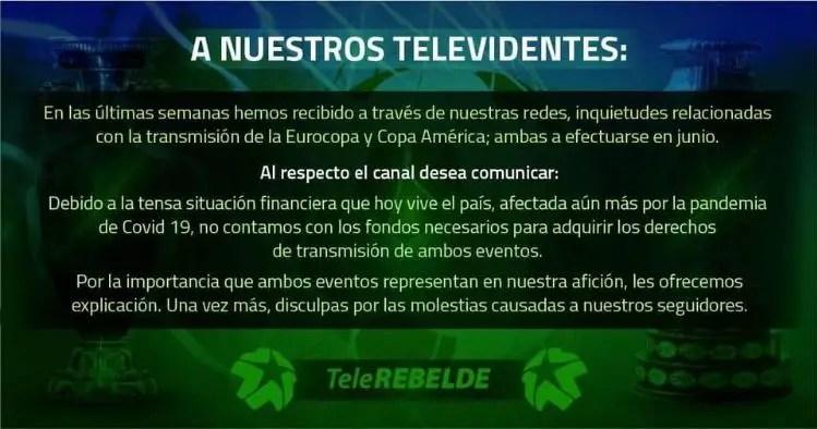 TeleRebelde fútbol Cuba