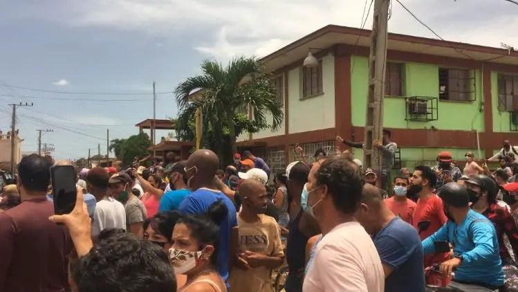 manifestación cubanos