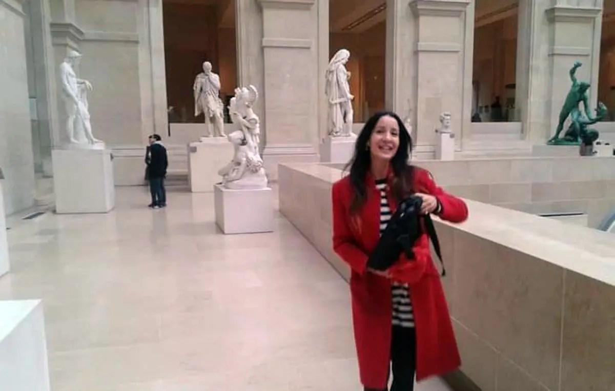 Liliana Núñez en el Louvre, París, en 2015.