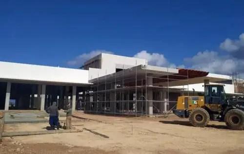 Bloque principal y fachada del hotel en abril de 2021. Foto AEI Trinidad
