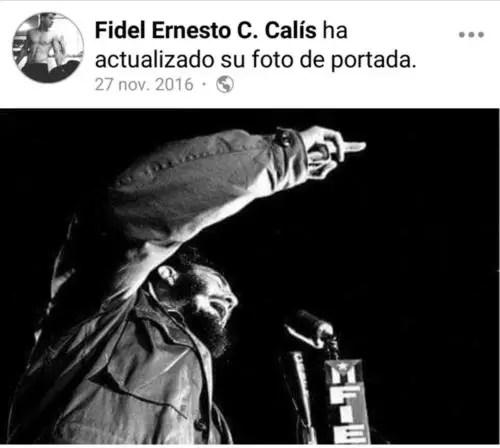 Fidel Ernesto puso una foto del tío abuelo como portada tras el fallecimiento del dictador en 2016
