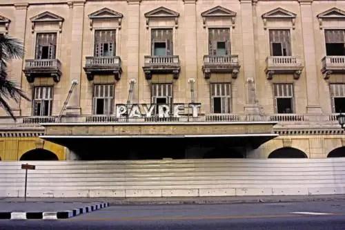 La manzana del Payret fue desalojada para construir hoteles. Foto P. Chang