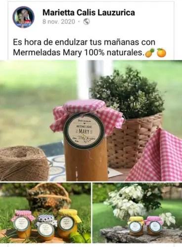 Marietta Calis, madre de los nietos de Raúl Castro promociona sus mermeladas en Facebook