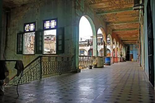 Pasillos interiores cuartería Palacio de las Ursulinas. Foto P. Chang