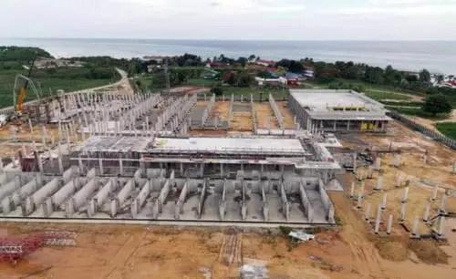 Solo en los cimientos, hasta septiembre de 2019, se habían empleado más de 10 000 metros cúbicos de hormigón (Foto: AEI Trinidad)