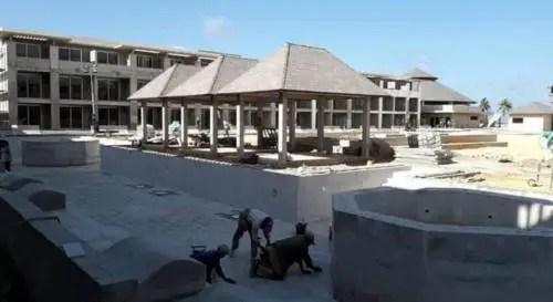 Terminacion de las piscinas del hotel Melia Trinidad abril de 2021. Foto AEI Trinidad