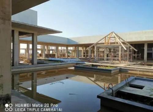 Un detalle de las piscinas en octubre de 2020. Foto AEI Trinidad