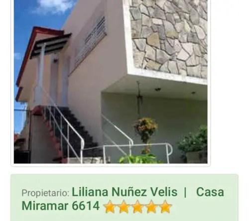 Anuncio en internet de la casa en alquiler de Liliana Nunez