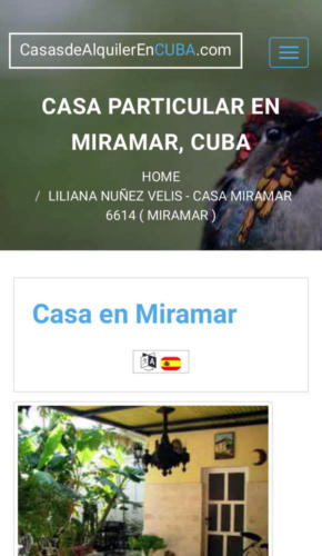 Anuncio en internet del alquiler de la casa de Liliana N├║├▒ez en Miramar. Recorte de pantalla