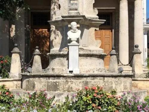 Busto de Cristóbal Colón, encargado por el Obispo de Espada. Foto del autor