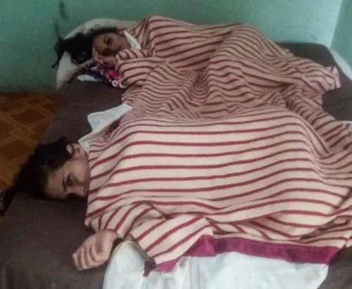 Ana y Ada Iris Miranda Leyva, 13 días en huelga de hambre. Foto cortesía