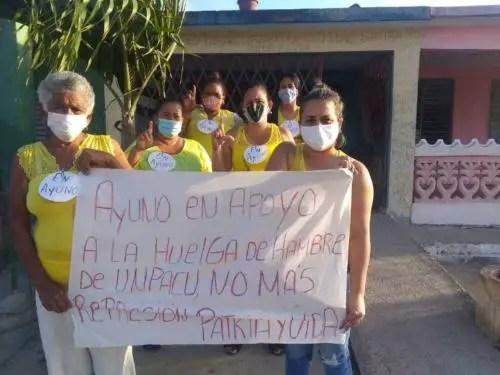 Academia Julio Machado en solidaridad de huelguistas de la UNPACU. Foto cortesía