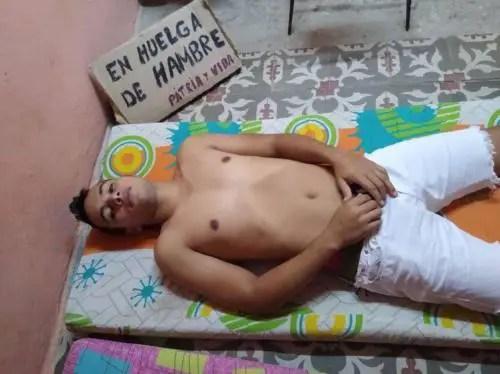 Evert Luis Hidalgo, 16 días en huelga de hambre. Foto cortesía
