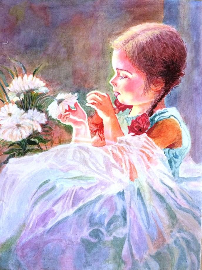 The Flower Girl / La Nina de las Flores by unknown