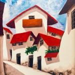 Red Roof Villiage / Pueblo de lo Azotea Roja by Marietta