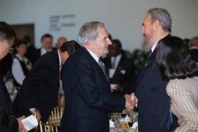 David Rockefeller Fidel Castro Cuba